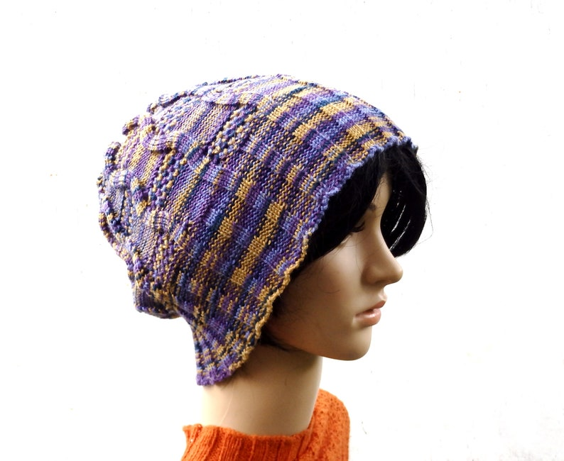 5873eef9b Knit hat, knitted winter beanie, knitting colorful cap, knitted wool  beanie, women men accessories, knit wear, tam, autumn hat, head gear