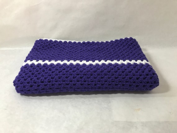 Sensational Lap Blanket Office Chair Throw Wheelchair Lap Cover Couch Throw Crocheted Purple With White Stripes Color Home Decor Dailytribune Chair Design For Home Dailytribuneorg