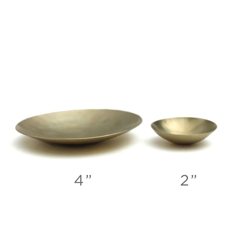 Hammered Brass Dish Small