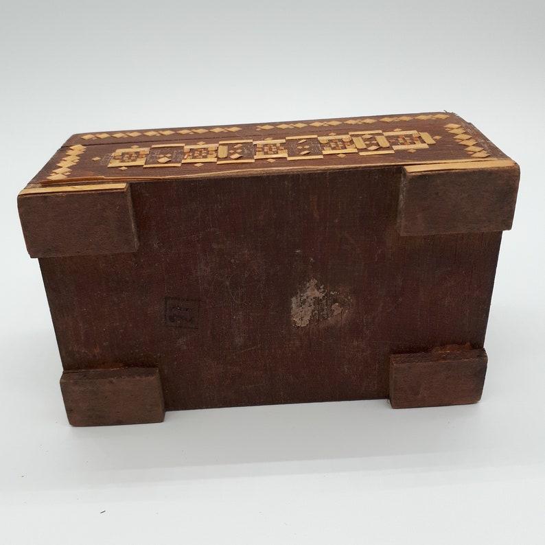 Jewelry Box Soviet Box Straw Box Beautiful VintageE treasury Box