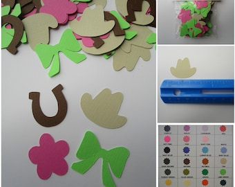 Little Cowgirl Confetti / 100 pcs / As shown or your choice of colors / Can order as set or individual pieces / Perfect for party or crafts