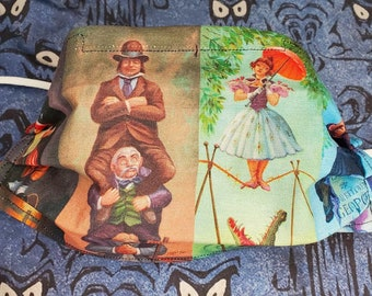 Haunted Mansion Stretch Paintings Face Mask Custom Fabric 2 Layers 100% cotton Nose Wire Adult Size Elastic Ear Loop Stretching Portraits