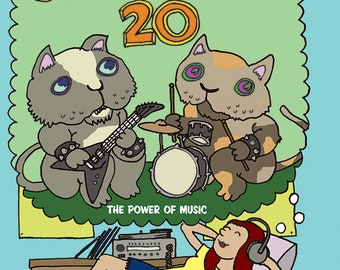 Not My Small Diary 20 - The Power of Music - Comics Anthology - 136 pages - Zine - Signed by editor