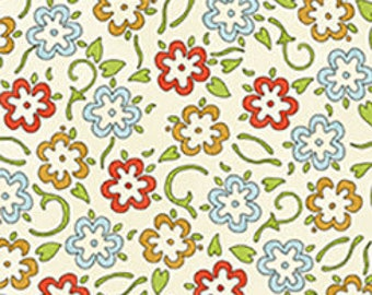 Flowers Multi, She Who Sews, J Wecker Frisch, Quilting Treasures, Sewing Fabric, Flower Fabric, Quilting Cotton, Floral