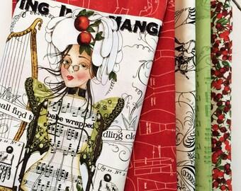 Angel Band Quilt Top Fabric Kit, J Wecker Frisch, Angel Band, Christmas Quilt Kit, Joy Studio, Handmaids, Fabric Kit