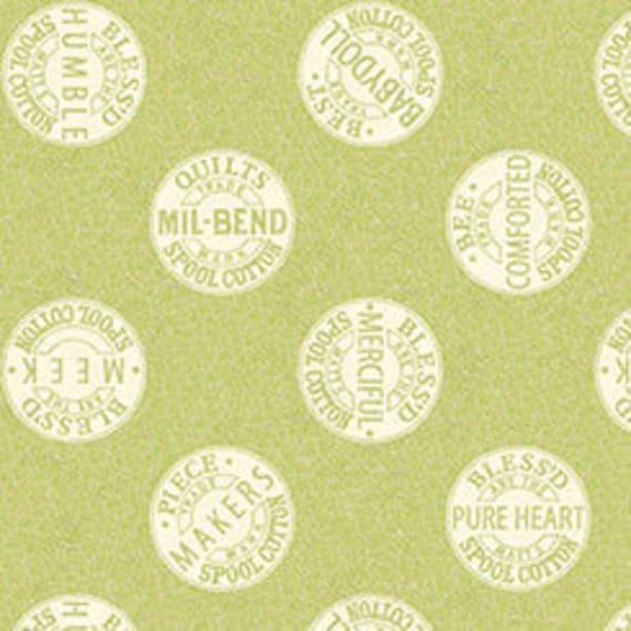 """QT Sewing Seeds 2 23/"""" Fabric Panel J Wecker Frisch Blocks Beige"""