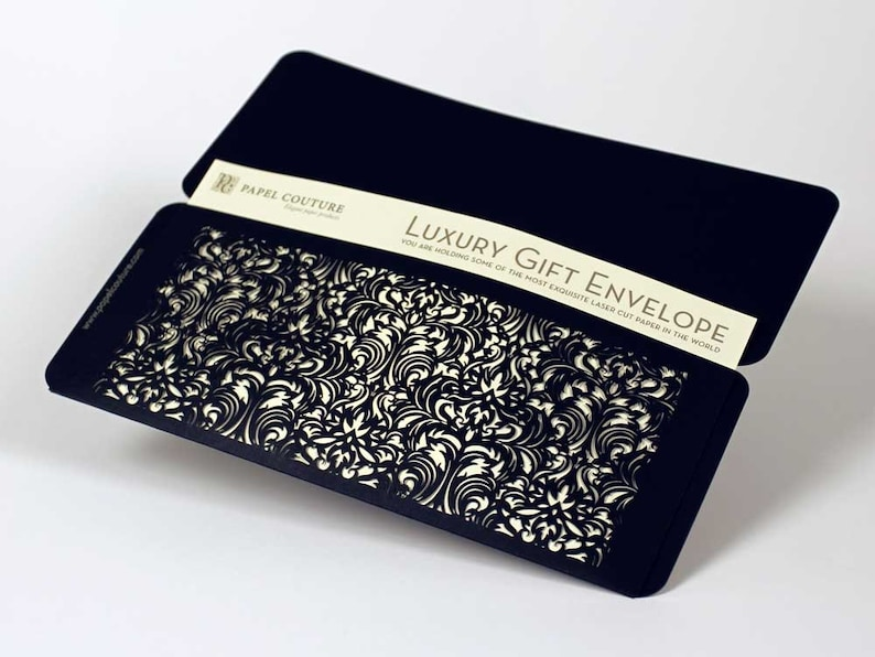 Unique Birthday Gift: Casablanca Laser Cut Gift Envelope Set of 6 Graduation gift Beautiful Envelopes for Gift Certificates and more