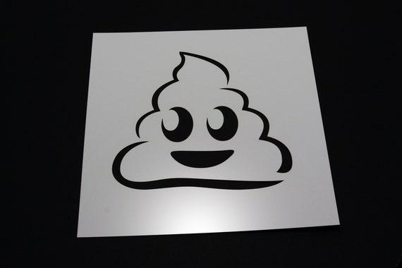 Poop Emoji Stencil-A4//A5//A6