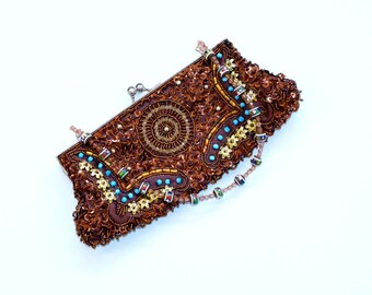 beaded embellished boho bag 90s
