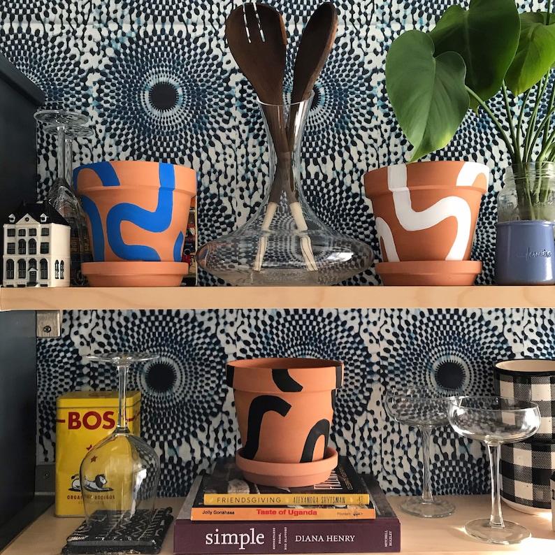 NEW Bogolan Bauhaus TWIST plant pots image 0