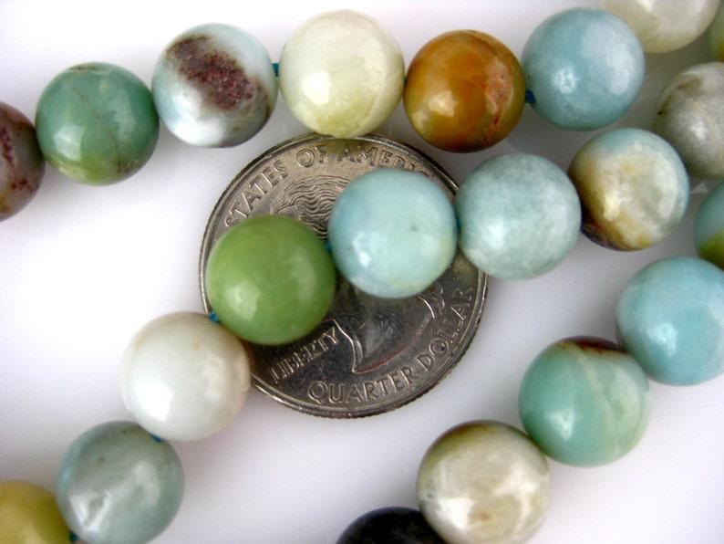 1 STRAND Chrysoprase Smooth Round 11mm Beads S104B6-01G Chrysoprase Beads- Australian Chrysoprase