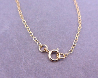 """14 kt. Gold Fill Chain Finished 16"""" Flat Cable 1.3mm"""
