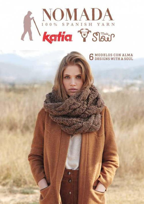 Katia Nomada Knitting Pattern Book Softcover 6 Designs Etsy