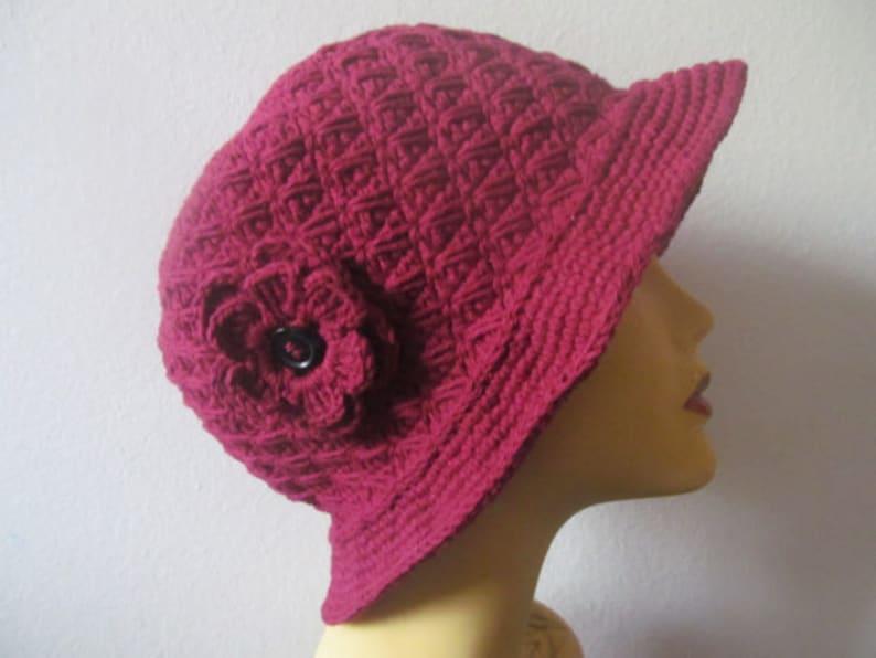 USA Seller Women Cloche Hat With Flower White Cloche Hat With Flower