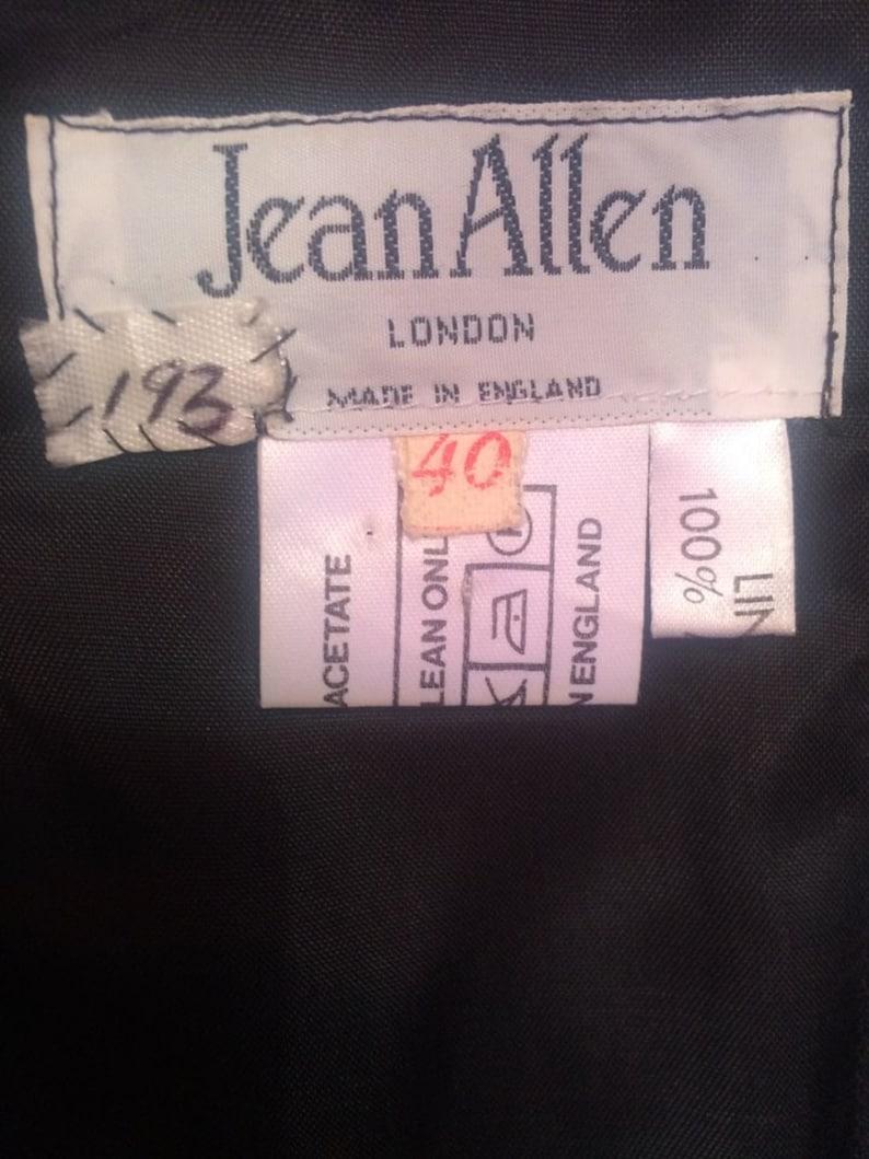 London. Sweetheart Floral A-line Ball Gown Dress Jean Allen Vintage 1980/'s