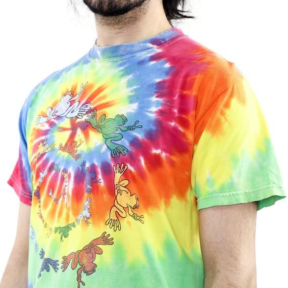 Frog Spyral Tie-Dye Vintage T-shirt - image 4