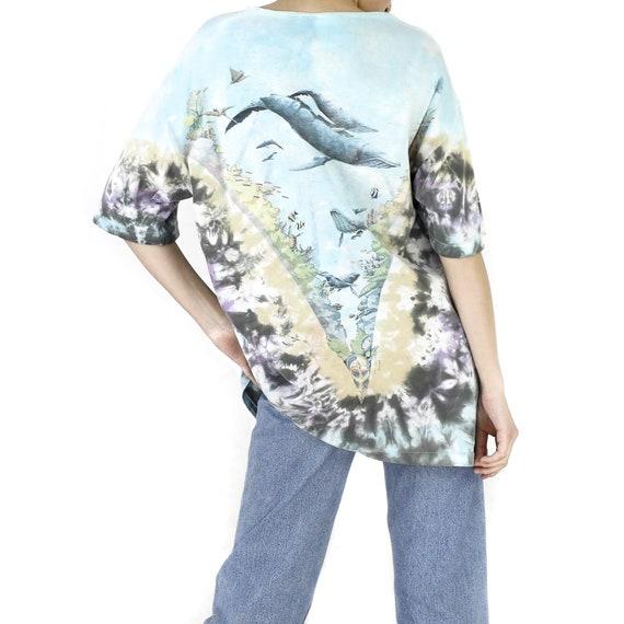 Coral Reef Tie-Dye Vintage T-shirt - image 3