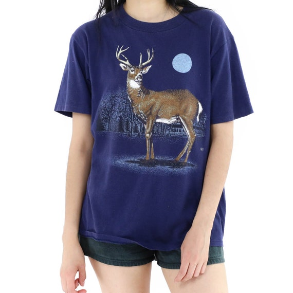Deer at Night Vintage T-shirt