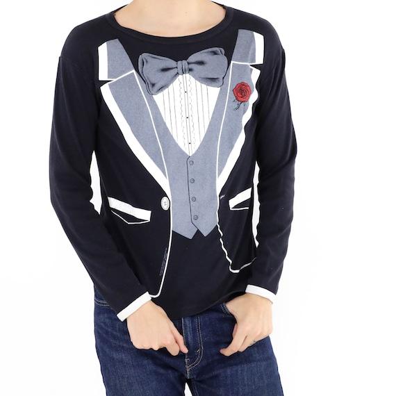 Trompe L'oeil Tuxedo Vintage T-shirt