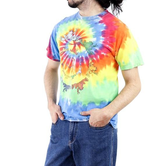Frog Spyral Tie-Dye Vintage T-shirt - image 2