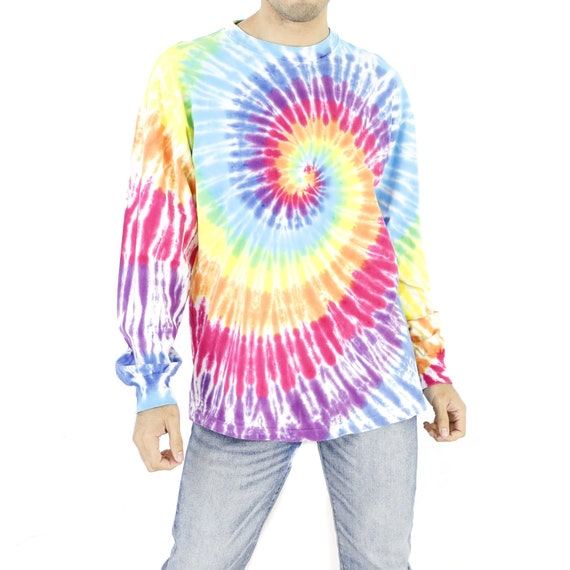 Rainbow Tie-Dye Crewneck