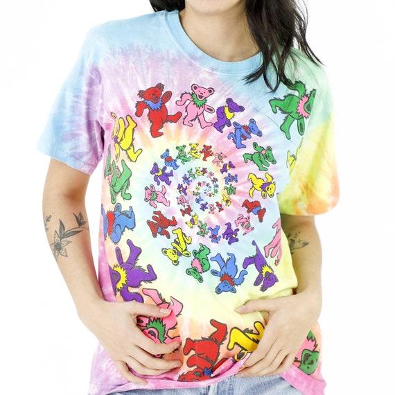 Rainbow Bears Tie-Dye Vintage T-shirt - image 4