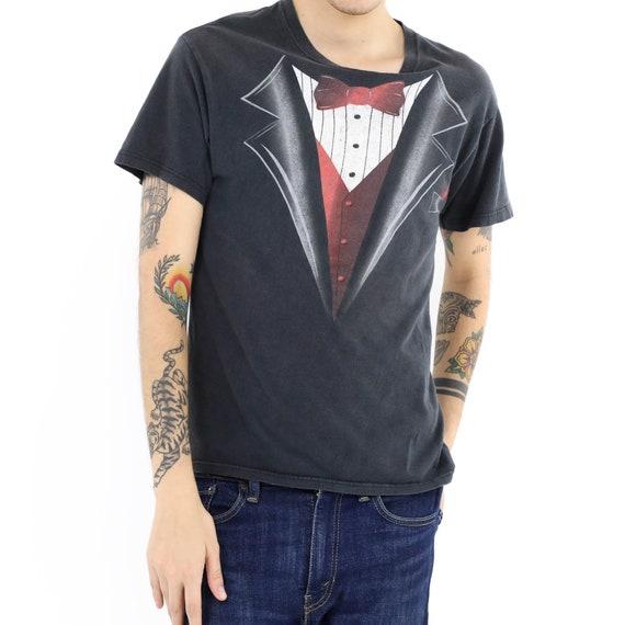 Trompe L'oeil Tuxedo Short Sleeve Vintage T-shirt