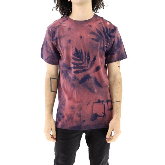 Spray Painted Rice & Leaves Vintage T-shirt