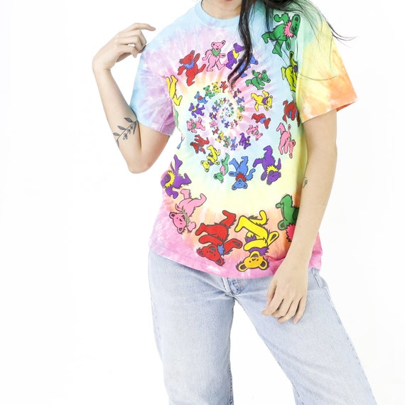 Rainbow Bears Tie-Dye Vintage T-shirt