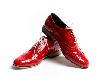 red patent oxford shoes - FREE WORLDWIDE SHIPPING