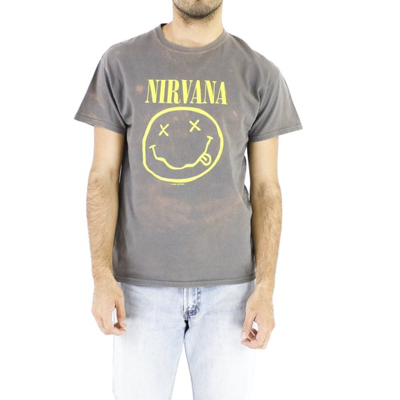Gray Tie-Dye Nirvana Vintage T-shirt