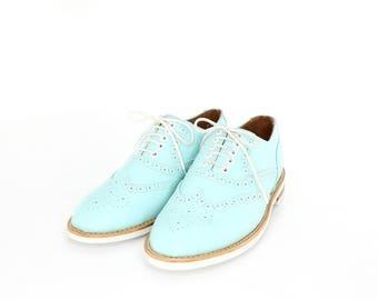 mint oxford brogue shoes - FREE WORLDWIDE SHIPPING