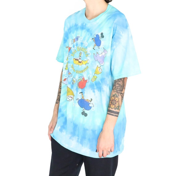 "The Beatles ""Submarine"" Baby Blue Cotton Tie Dye … - image 2"