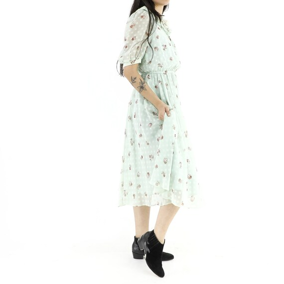 Roses & Polka Dots Mint Dress - image 2