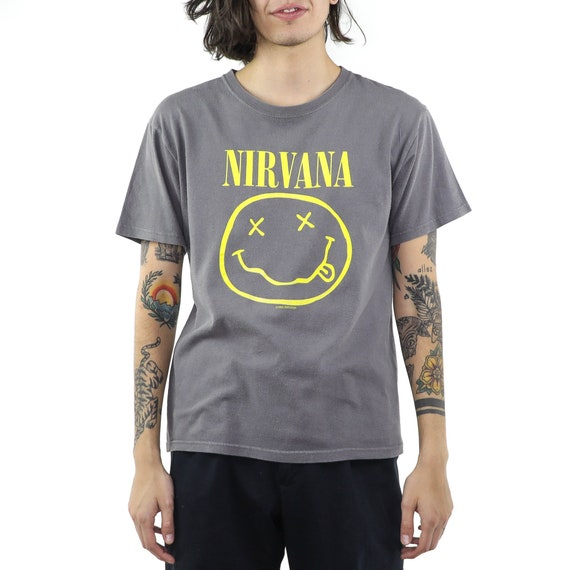 Nirvana Gray Cotton 90's T-shirt