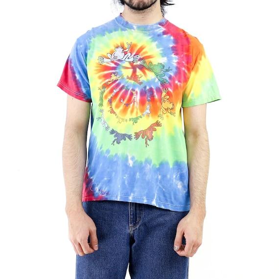 Frog Spyral Tie-Dye Vintage T-shirt