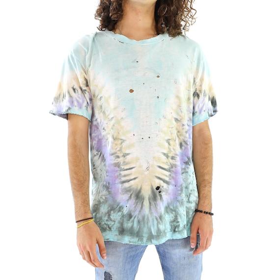 Baby Blue Whale Cotton Tie Dye Vintage T-shirt
