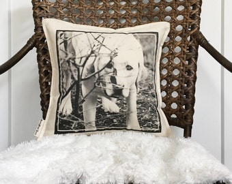 """12"""" Custom Photo Pillow - Your Photo On A Pillow - Customizable Dog Photo Decor - Picture Pillow - Photo Pillow With Quote - Insert Included"""