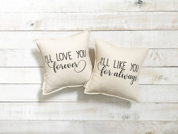 60 Love You Forever Pillow Set Robert Munsch Quote Etsy Adorable Love You Forever Book Quotes