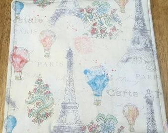 Blue Paris Watercolor Style Potholder