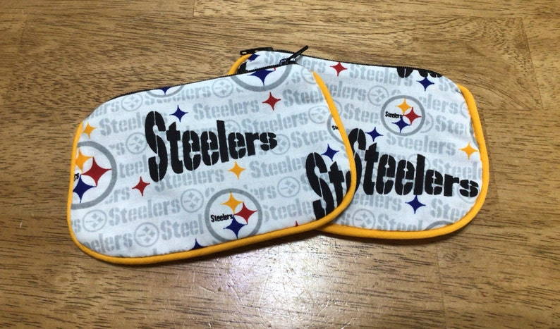 Steelers Football zip coin wallet ON SALE
