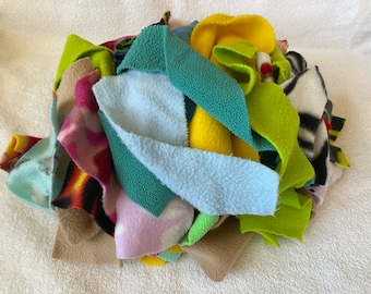 Ready to Ship! Fleece Fabric Pieces for Pet Rats, Hamsters, Ferrets - Great for Play Baskets!