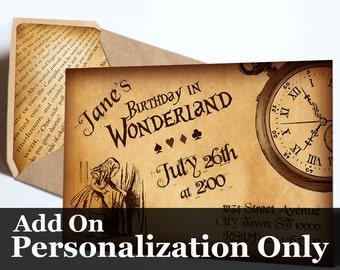 Custom Personalization for Alice Invites