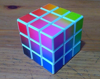 LSD Cube (RGB Gradient) - 3x3x3 Rubik's cube sticker MOD
