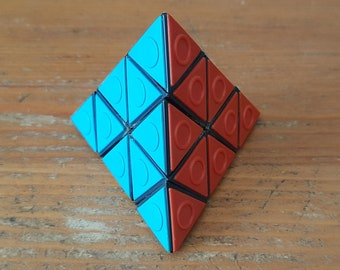 Vintage Moldavian Blind Pyramid 1980's (from Rovno) - USSR Pyraminx, Rubik cube, Soviet Brain Teaser Logic Game, Collectible Twisty Puzzle