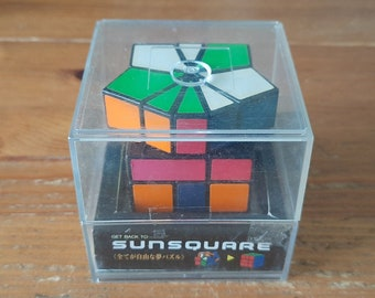 Vintage SunSquare (aka Square-1) from Japan - Brain Teaser Logic Game, Collectible Twisty Puzzle