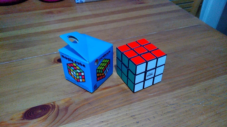 Vintage POLITOYS Rubik's Cube in Blue Box 1980's from image 0
