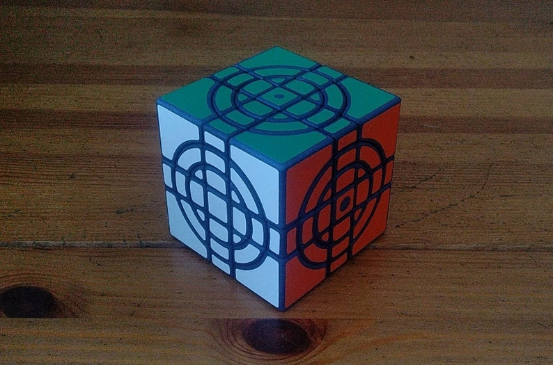 Double Crazy Cube by Zijian rare hand made SLS puzzle similar Standart