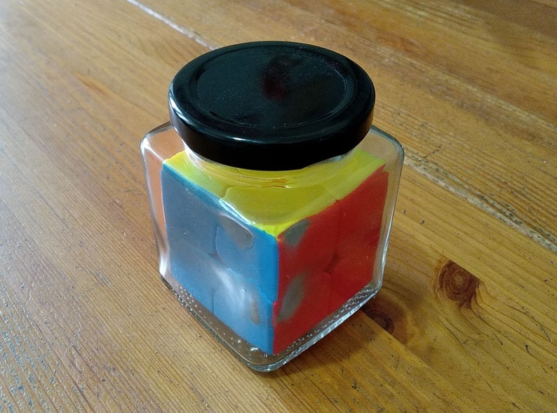 grigorusha Rubik's Cube 2x2 in a Jar  Impossible Bottle image 0