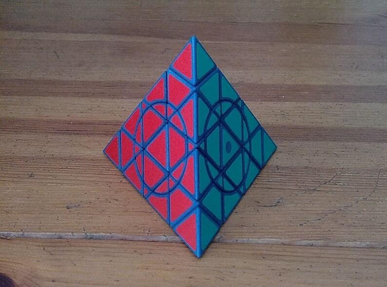 grigorusha Circle and Crazy Master Pyraminx rare hand made image 0